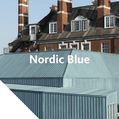 Nordic Blue products provide the same blue patinated surface that otherwise develops over time in the environment.