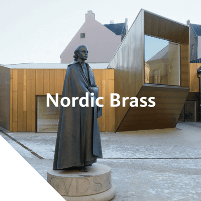 Nordic Brass is an alloy of copper and zinc with a distinctive golden yellow color.