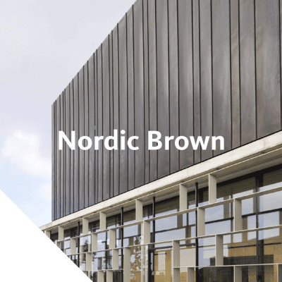 Nordic Brown provides the same oxidised brown surface that otherwise develops over time in the environment.