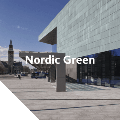 Nordic Green material is pre-patinated at the Aurubis mill to immediately provide the same green patina that naturally develops over time in the environment.