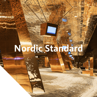 Nordic Standard is mill finish copper without any additional surface treatments carried out at the production site. The material has the traditional bright finish that will oxidise in the environment.