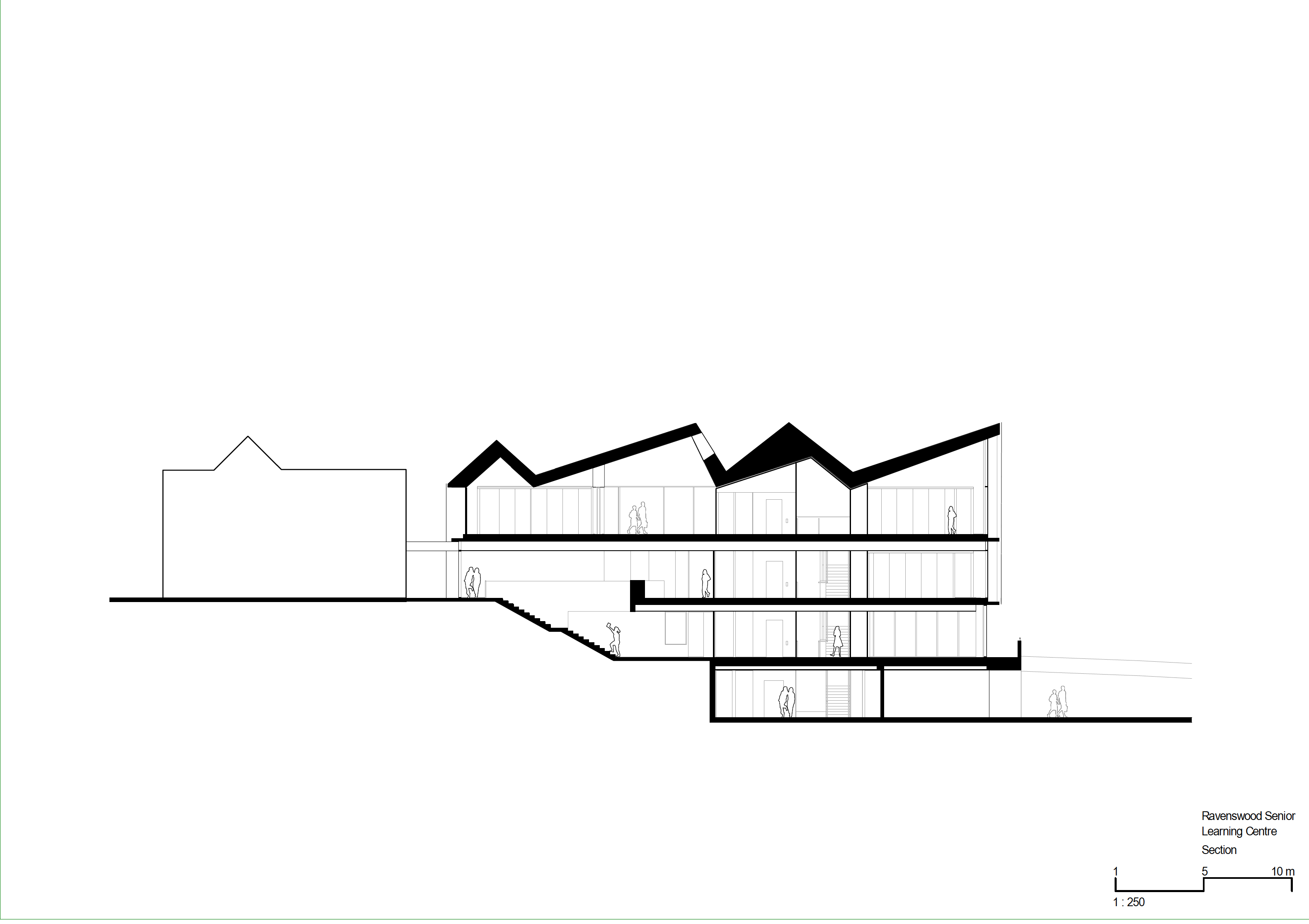Architectural design drawing of the Ravenswood school located in Sydney, Australia.
